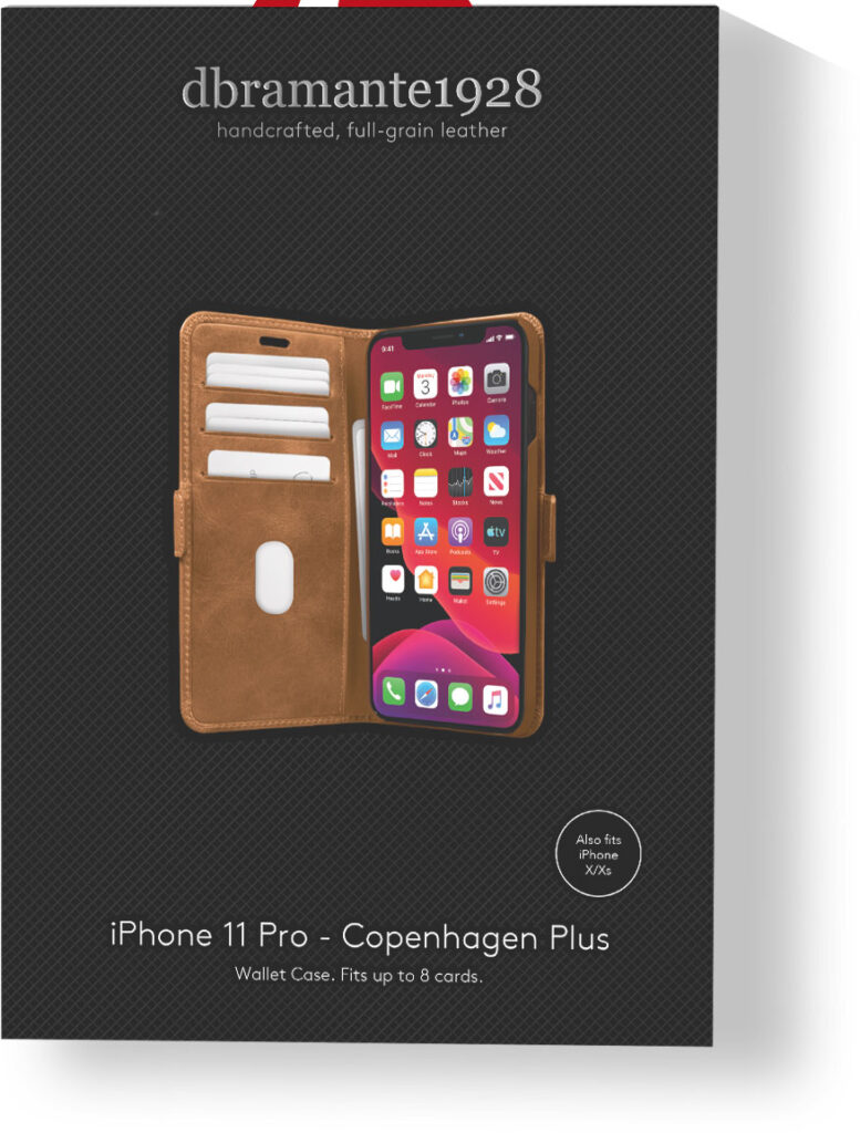 indpakning til dbramante1928 iPhone Copenhagen Plus case