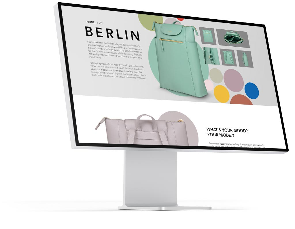 dbramante1928 Mode Berlin landingpage