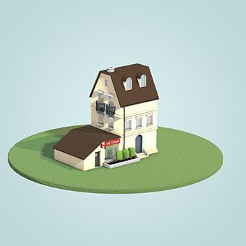 illustration af et hus