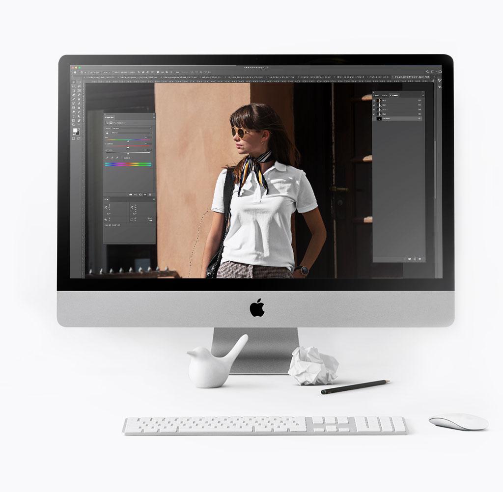 Billedbehandling på skærm
