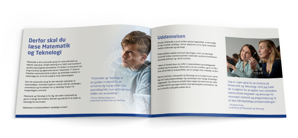 DTU Matematik og teknologi brochure DTU