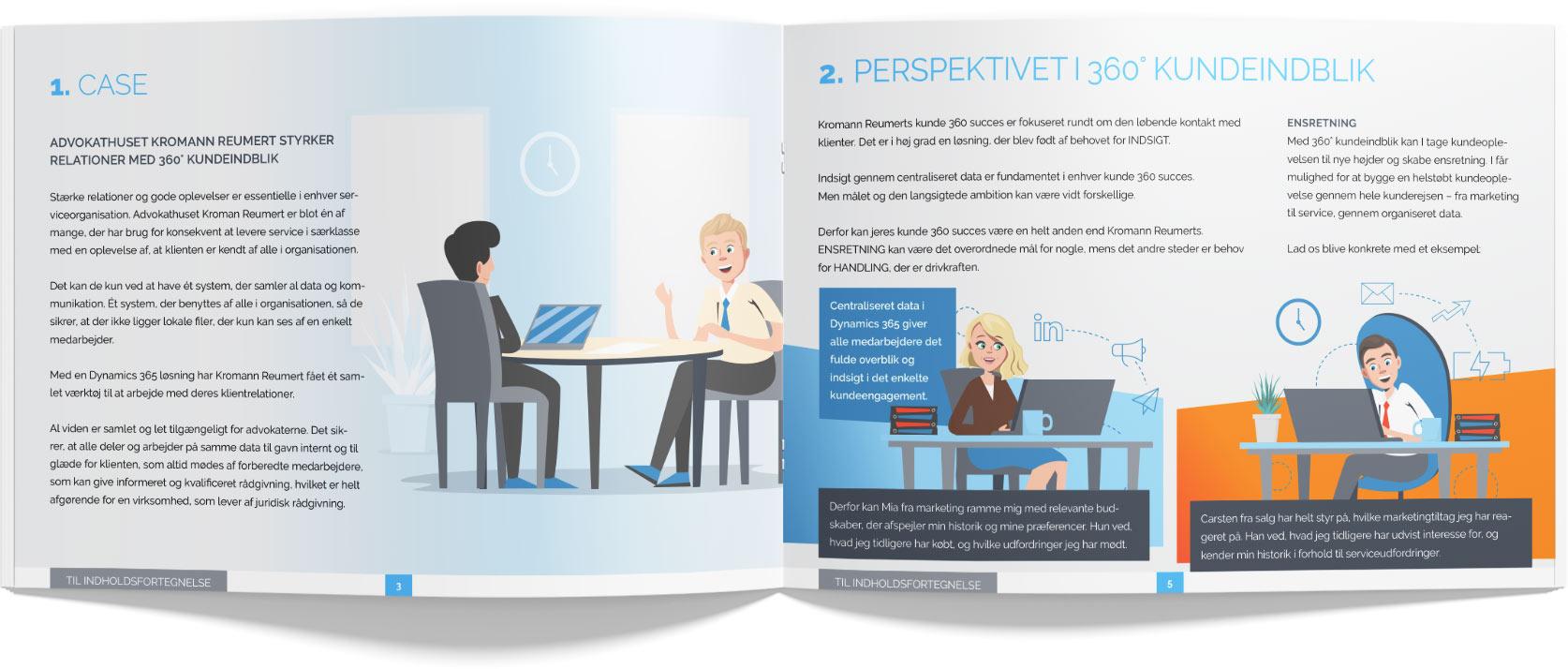 Delegate 360 kundeindblik illustreret brochure