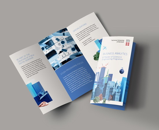 DTU Business analytics trifold brochure