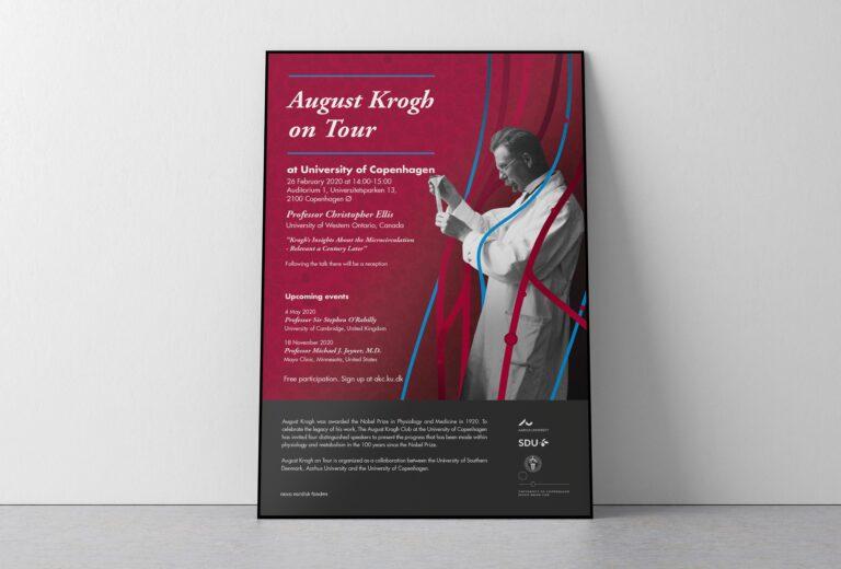 August Krogh on tour plakat