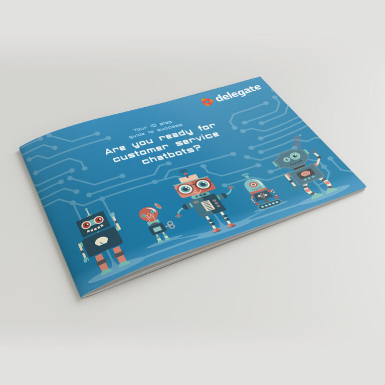 Robotterne kommer brochure