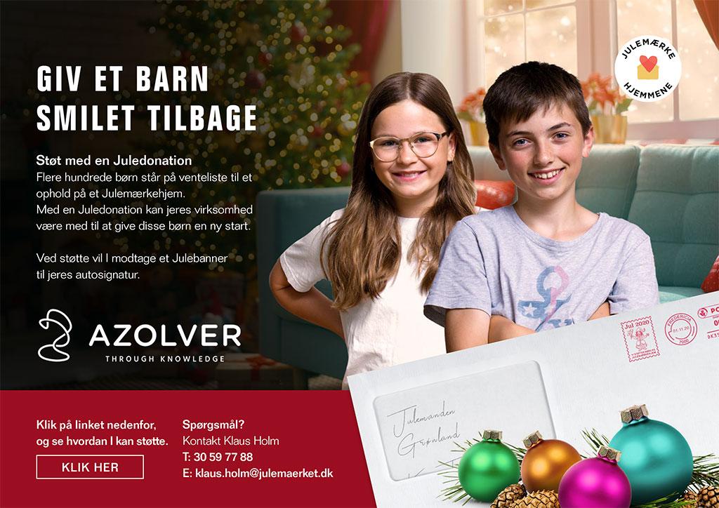 Julemærkefonden email annonce
